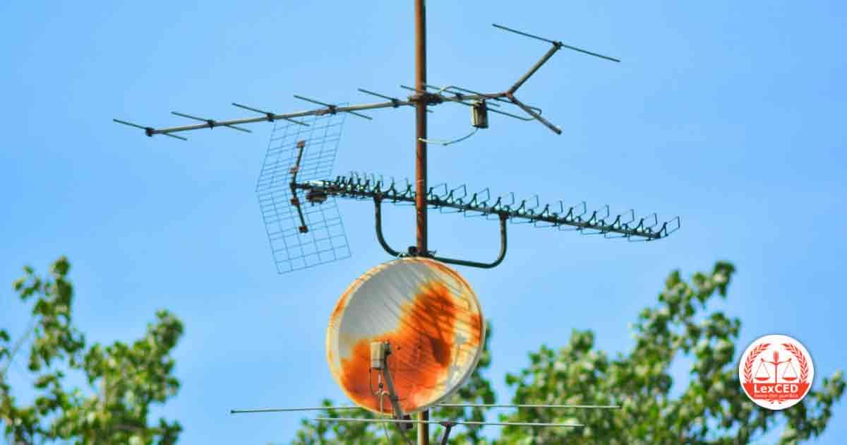 Antenne televisive, edificio in condominio, installazione